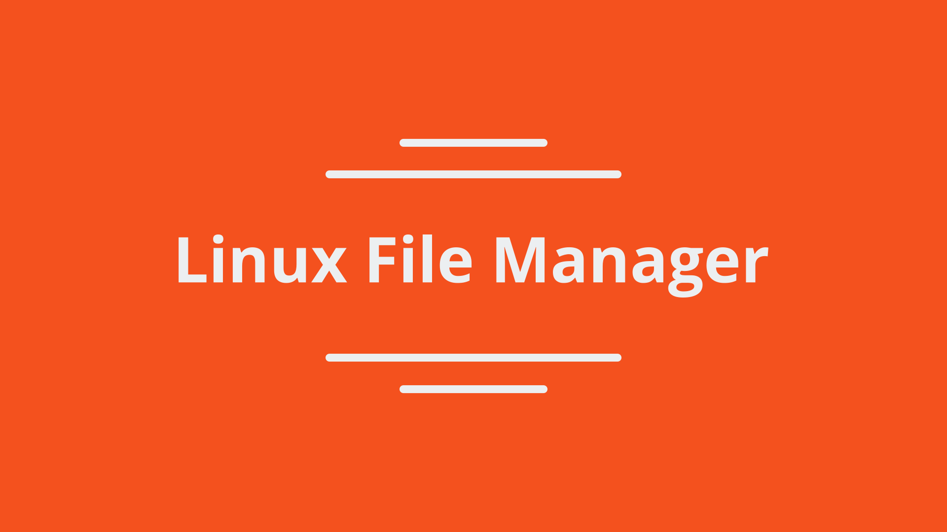 Linux File Manager